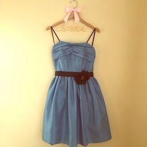 Juniors Blue Taffeta Dress